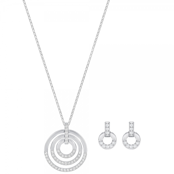 Circle Set, Rhodium Plating